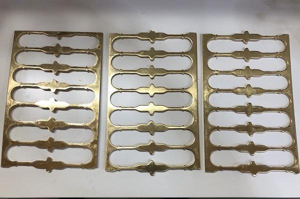 【3枚セット】真鍮板 打抜端材  厚さ3mm 真鍮プレート 黄銅板 工作 アクセサリー【スマートレター発送 180円】_画像1