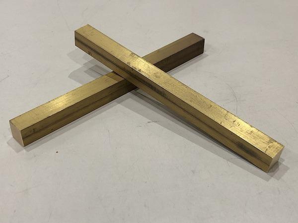 【2本セット】真鍮棒 端材 150×12×12mm 黄銅 ハンドメイド素材 工作 DIY【スマートレター発送 180円】_画像2