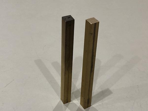 【2本セット】真鍮棒 端材 150×12×12mm 黄銅 ハンドメイド素材 工作 DIY【スマートレター発送 180円】_画像3