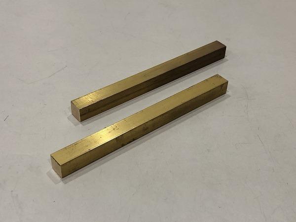 【2本セット】真鍮棒 端材 150×12×12mm 黄銅 ハンドメイド素材 工作 DIY【スマートレター発送 180円】_画像1