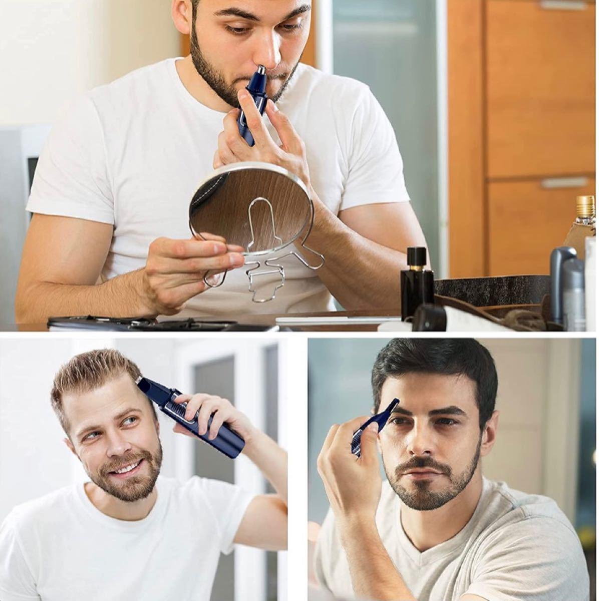 鼻毛カッター 電気で動く 眉毛トリマー 脱毛ナイフ 髪の毛整理する 耳毛 三合一 ユニセックス があります洗える