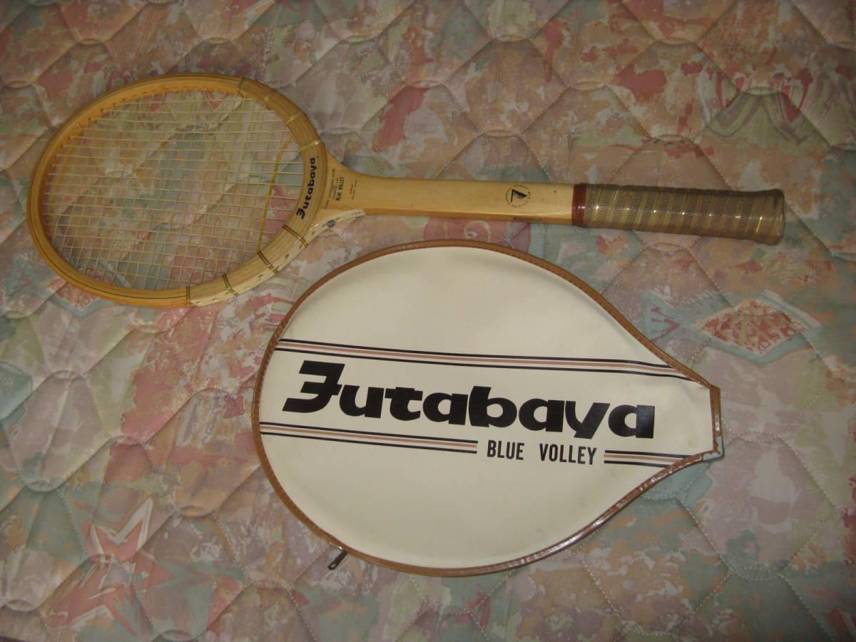 硬式テニスラケット 木製 昭和レトロ_画像1