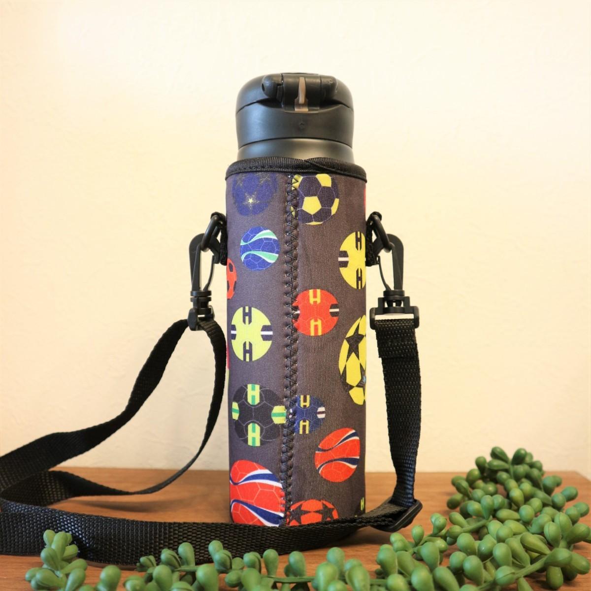 ★水筒カバー★~600ml ボトルカバー ボトルホルダー 水筒ケース サッカー