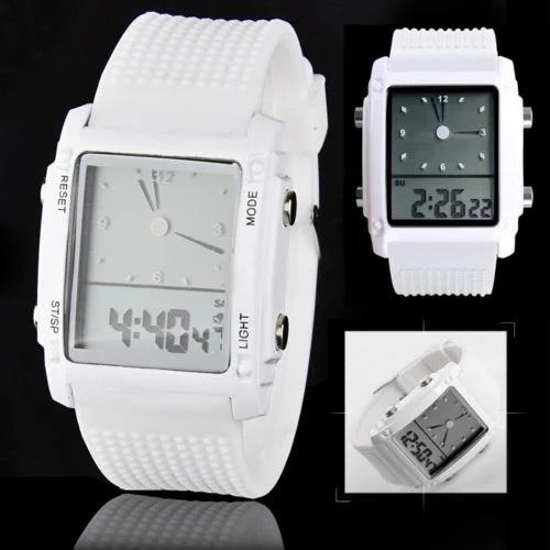 スポーツ腕時計 腕時計 時計 アナデジ式 LED デジタル ミリタリー 自転車 スポーツ アウトドア キャンプ ランニング ホワイト 22_画像3