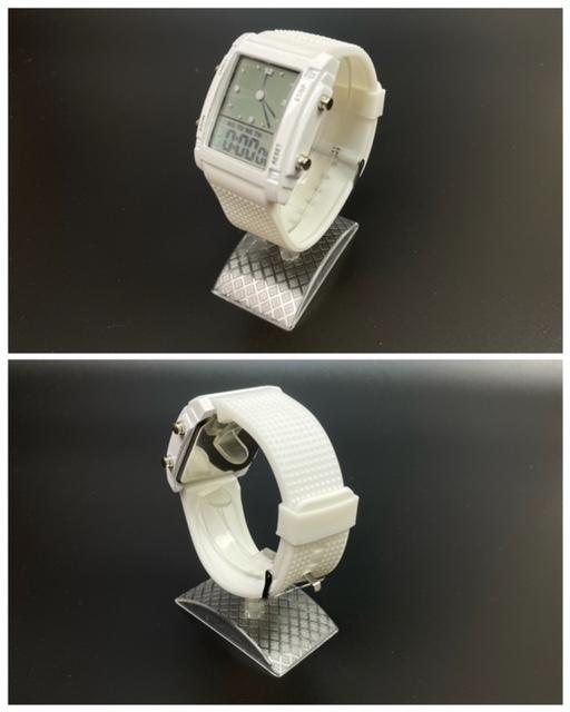 スポーツ腕時計 腕時計 時計 アナデジ式 LED デジタル ミリタリー 自転車 スポーツ アウトドア キャンプ ランニング ホワイト 21_画像7