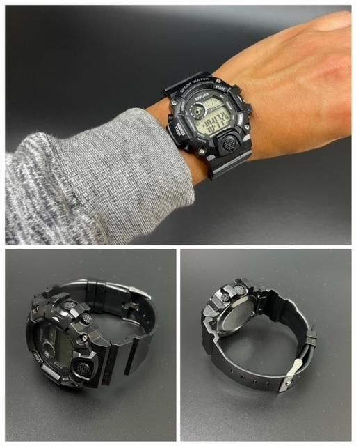 スポーツ腕時計 腕時計 時計 デジタル式 LED デジタル腕時計 デジタル 自転車 スポーツ アウトドア キャンプ ブラック  22_画像3