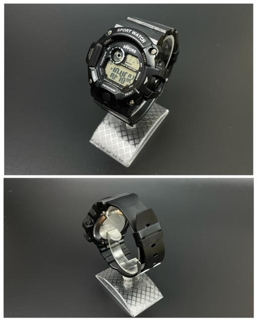 スポーツ腕時計 腕時計 時計 デジタル式 LED デジタル腕時計 デジタル 自転車 スポーツ アウトドア キャンプ ブラック  22_画像4