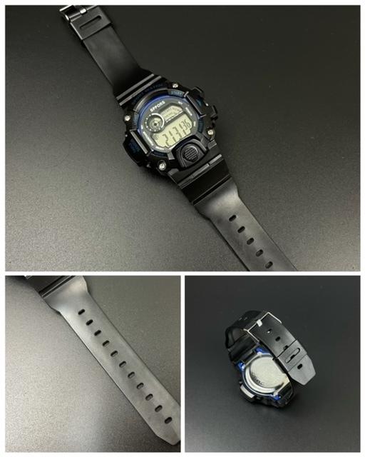 スポーツ腕時計 腕時計 時計 デジタル式 LED デジタル腕時計 デジタル 自転車 スポーツ アウトドア キャンプ ブラック ブルー 21_画像5