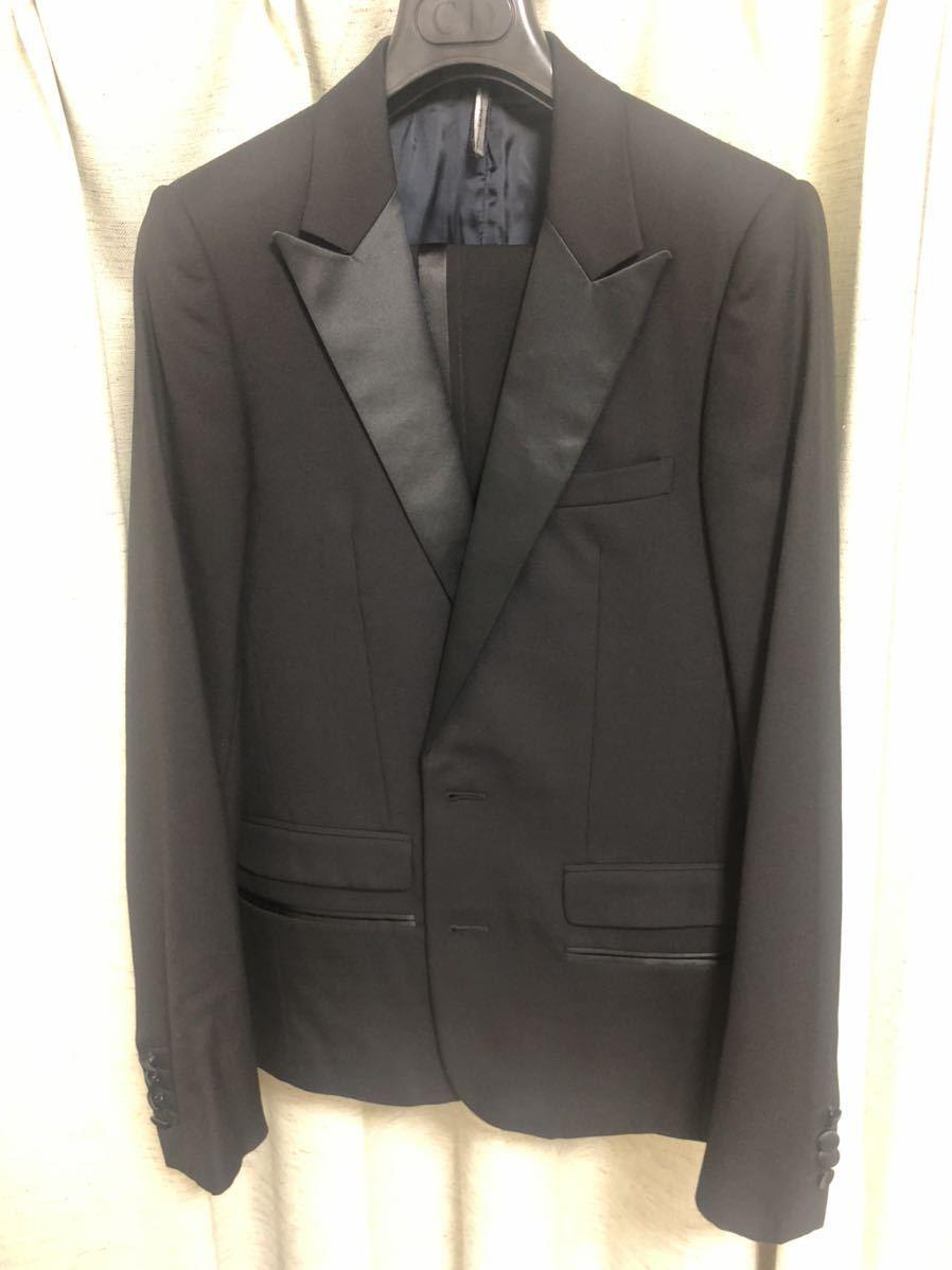 Dior Homme ディオールオム 44【定価総額60万超】スモーキングJK PT ジレ スーツ セットアップ_画像1