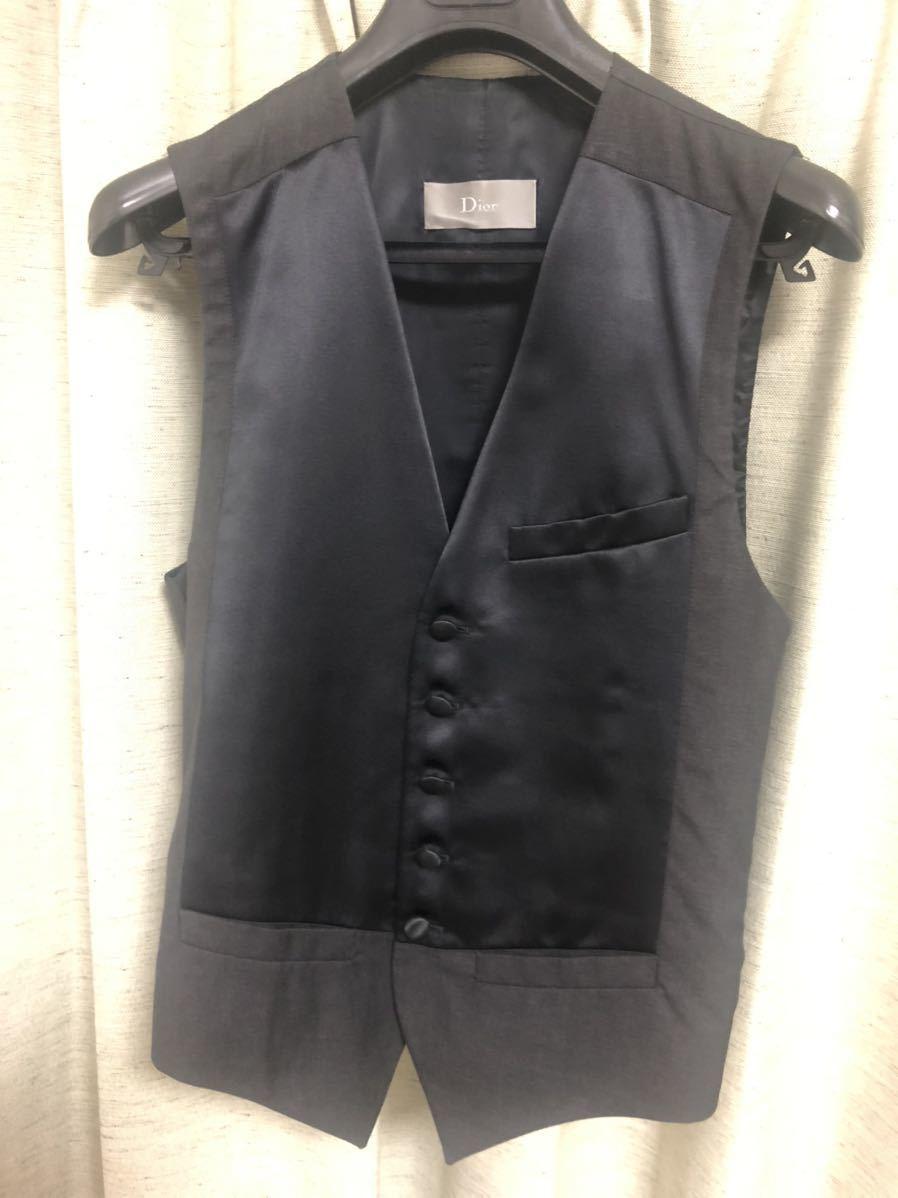 Dior Homme ディオールオム 44【定価総額60万超】スモーキングJK PT ジレ スーツ セットアップ_画像8