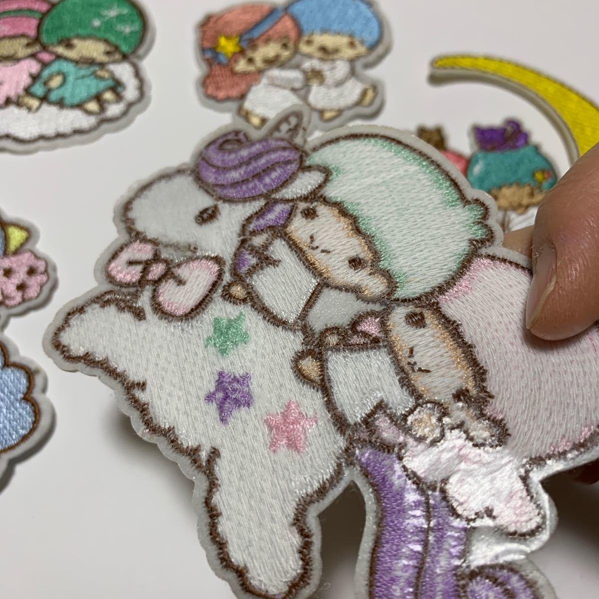 アイロンワッペン 刺繍ワッペン キキララ リトルツインスターズ ワッペン アップリケ パッチ 5枚 リトルツインスター