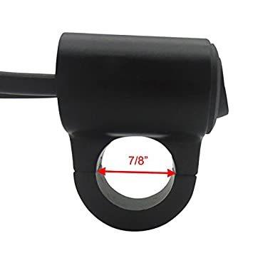 ヘッドライトフォグスポットライトON/OFFスイッチ 防水 12V 22mmハンドルバーオートバイ用 赤色インジケータライト_画像5