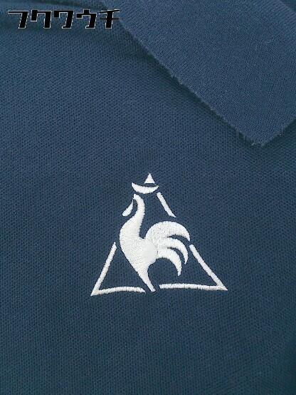 ◇ le coq sportif ルコックスポルティフ 半袖 ポロシャツ サイズL ネイビー メンズ_画像4