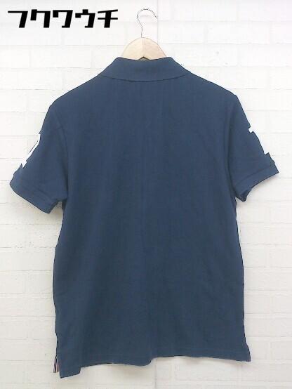◇ le coq sportif ルコックスポルティフ 半袖 ポロシャツ サイズL ネイビー メンズ_画像2