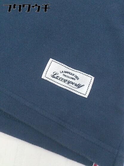 ◇ le coq sportif ルコックスポルティフ 半袖 ポロシャツ サイズL ネイビー メンズ_画像5