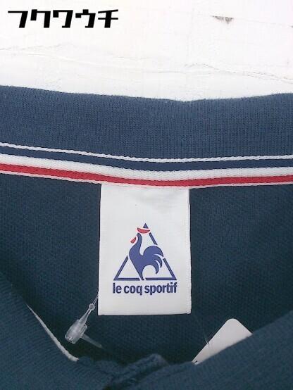 ◇ le coq sportif ルコックスポルティフ 半袖 ポロシャツ サイズL ネイビー メンズ_画像3