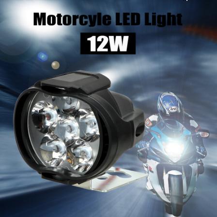 【在庫わずか】1 ペアオートバイヘッドライト 6500 18k ホワイト超高輝度 6 LED 作業スポットライトバイクフォグランプ_画像3