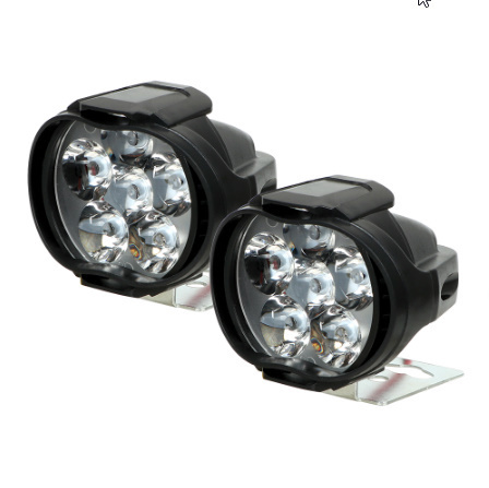 【在庫わずか】1 ペアオートバイヘッドライト 6500 18k ホワイト超高輝度 6 LED 作業スポットライトバイクフォグランプ_画像4