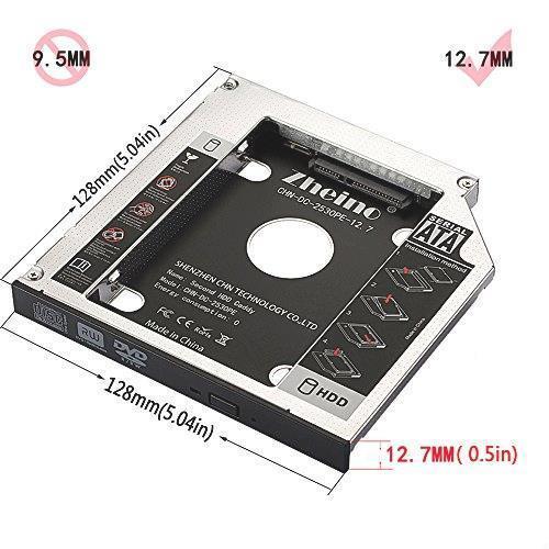 新品 CD 2nd 光学ドライブベイ用 SATA/HDDマウンタよりCD/DVD 12.7mmノートPCドライブ50OZ_画像4