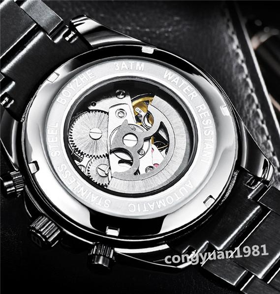 ★★メンズ高級腕時計 機械式 自動巻き 44mm カレンダー 曜日表示 多機能 紳士ウォッチ 夜光 防水 おしゃれ シルバー_画像4