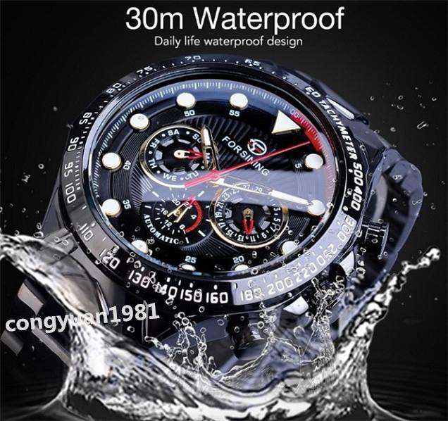 ★メンズ腕時計 43mm 機械式 自動巻き カレンダー 曜日表示 24H 紳士ウォッチ 夜光 防水 ステンレス カジュアル B/G_画像8