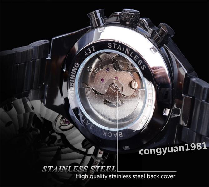 ★メンズ腕時計 43mm 機械式 自動巻き カレンダー 曜日表示 24H 紳士ウォッチ 夜光 防水 ステンレス カジュアル B/G_画像6