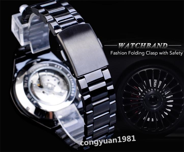 ★メンズ腕時計 43mm 機械式 自動巻き カレンダー 曜日表示 24H 紳士ウォッチ 夜光 防水 ステンレス カジュアル B/G_画像7