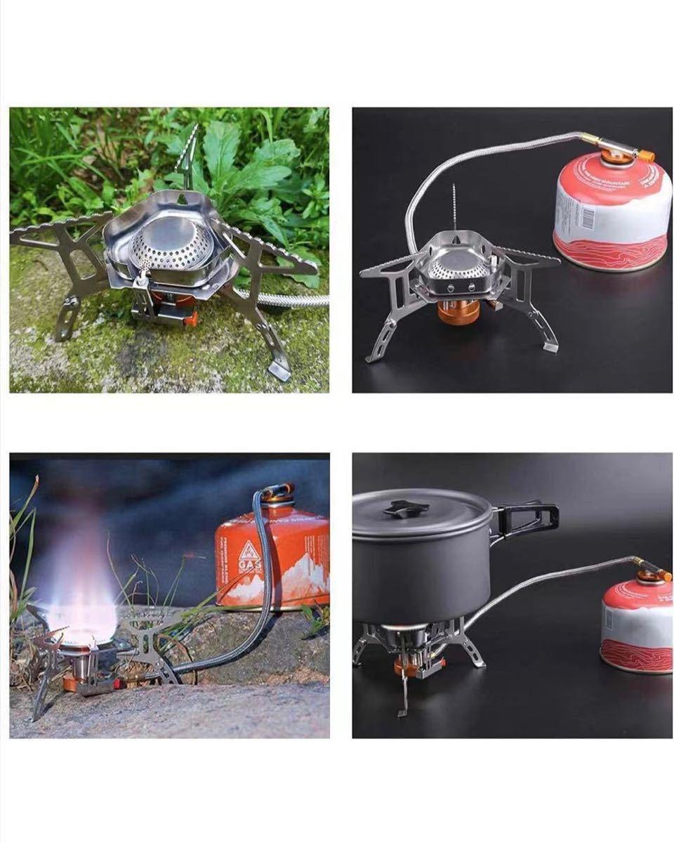 シングルバーナー コンパクトバーナー OD缶 登山 防災 用品 圧電点火 自由に火力調節 高効率発熱量 折りたたみ式 3900W