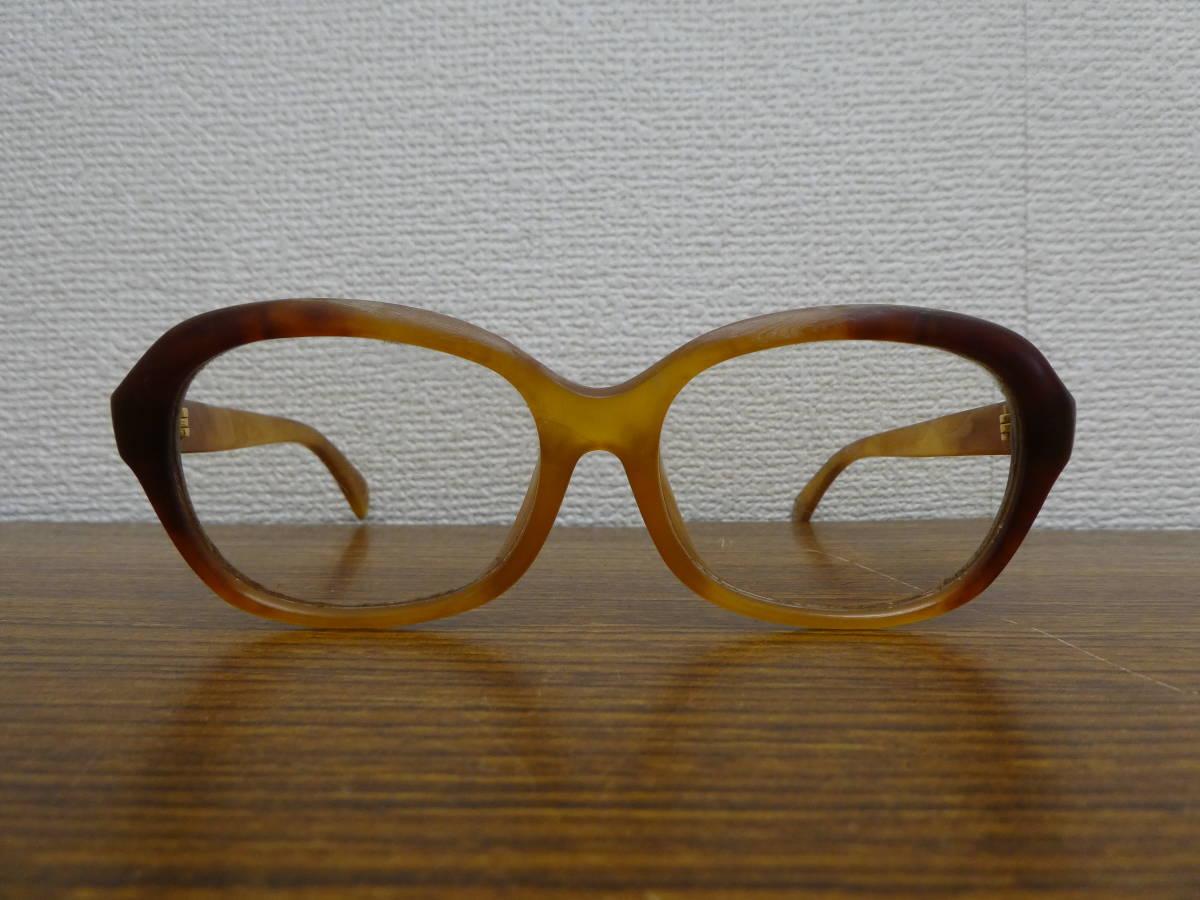 レトロ アンティーク べっ甲 鼈甲 メガネ 眼鏡フレーム K18 金具 中古 長期保管品 激安1