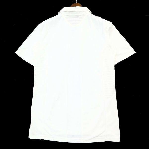 le coq sportif GOLF ルコック スポルティフ ゴルフ 春夏 ロゴ ハーフジップ ストレッチ 半袖 ポロシャツ Sz.M メンズ 白 C1T04895_7#A_画像5