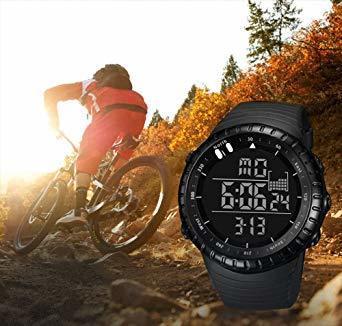 新品ブラック Senorsスポーツ腕時計 メンズデジタル時計電子LEDファッションアウトドアカジュアル防水腕時計C736_画像5