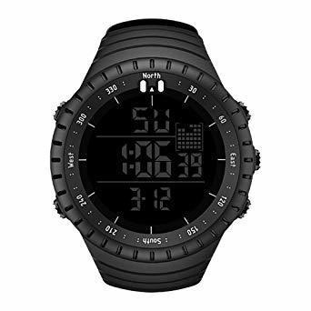 新品ブラック Senorsスポーツ腕時計 メンズデジタル時計電子LEDファッションアウトドアカジュアル防水腕時計C736_画像1