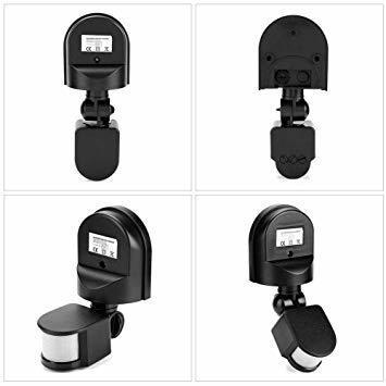 新品黒い AC 110~240V赤外線センサースイッチ 人感センサースイッチ 調節可能 LEDライト、コンパクト蛍光WGNJ_画像7