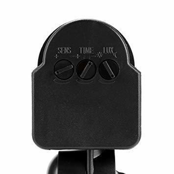新品黒い AC 110~240V赤外線センサースイッチ 人感センサースイッチ 調節可能 LEDライト、コンパクト蛍光WGNJ_画像9