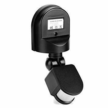 新品黒い AC 110~240V赤外線センサースイッチ 人感センサースイッチ 調節可能 LEDライト、コンパクト蛍光WGNJ_画像8