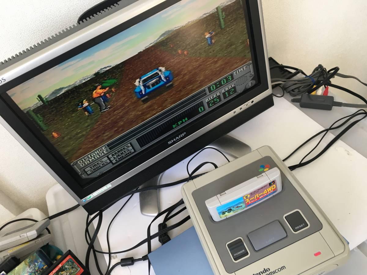 21-SFC-97 スーパーファミコン スーパー4WD 動作品 スーファミ