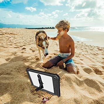 7.9インチ iPad mini5 防水ケース アイパッド mini5 防水カバー タブッレト耐衝撃 IP68防水規格 米軍MI_画像7