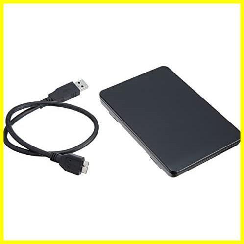 玄人志向 SSD/HDDケース(ブラック) 2.5型 USB3.0接続 ACアダプター不要/ネジ止め不要/3ステップの簡単組立 GW2.5TL-U3/BK_画像1