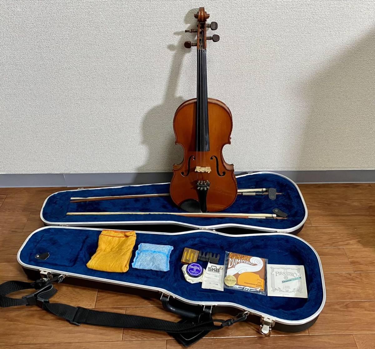 D. Soriot Luthier D.ソリオゥ 4/4 バイオリン全セット 弓ARCHRT アルシェ SKBハードケース付き