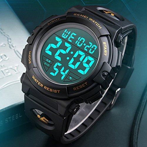 Timever(タイムエバー)デジタル腕時計 メンズ 防水腕時計 led watch スポーツウォッチ アラーム ストップウォッ_画像2