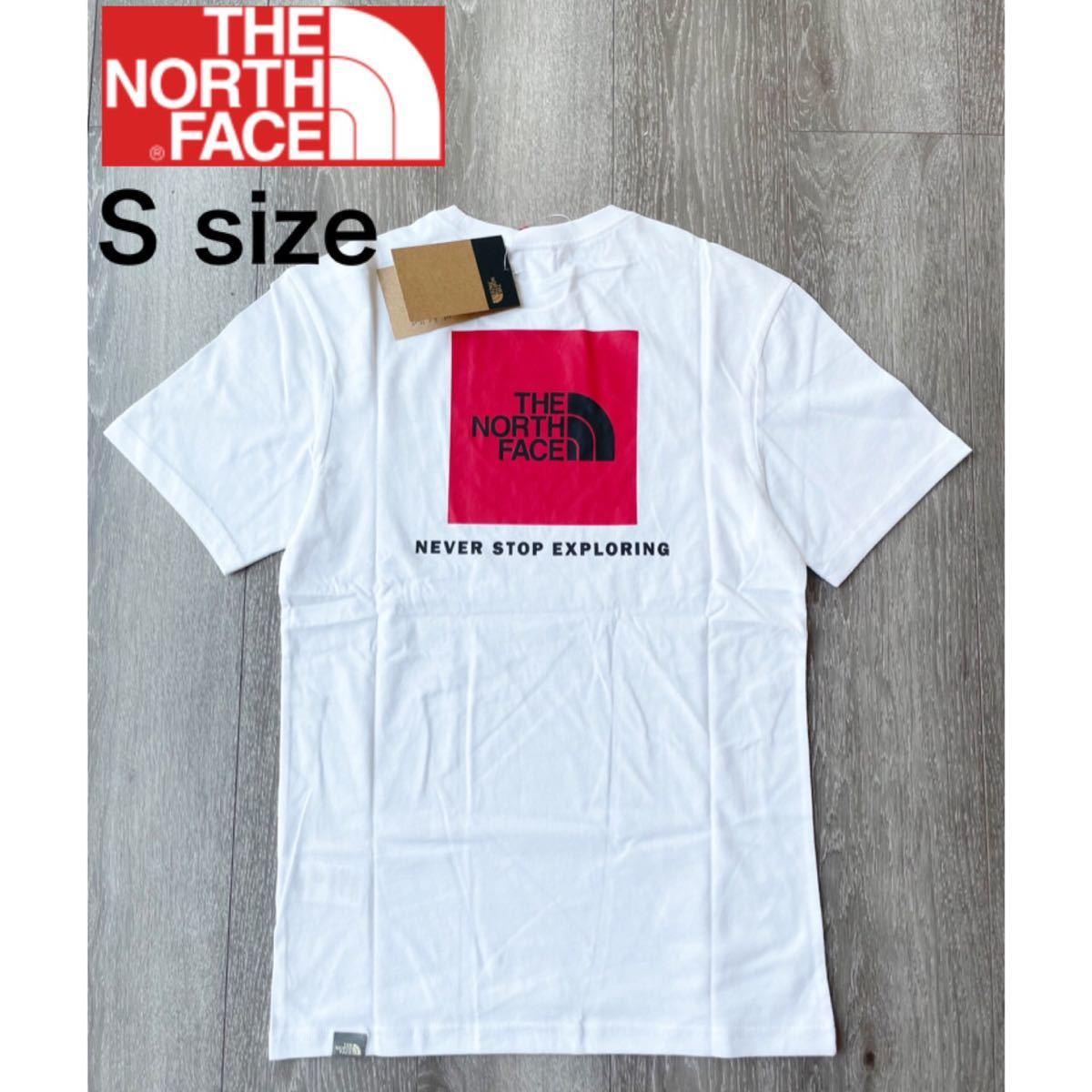 ザ ノースフェイス Tシャツ レッドボックス Tシャツ 半袖 ホワイト新品 S THE NORTH FACE UKモデル 正規品