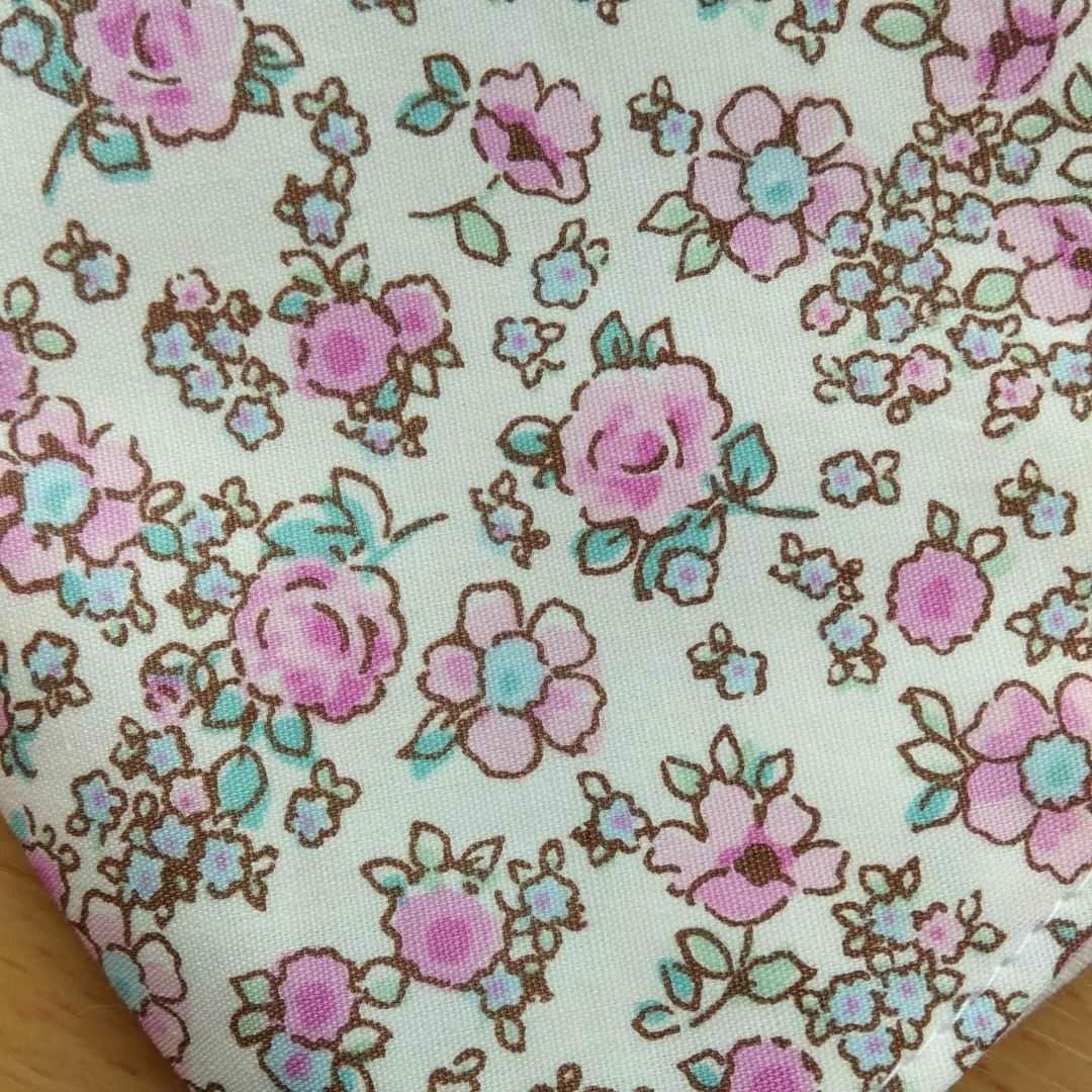 ハンドメイドインナー インナーガーゼ インナーカバー 立体インナー 大人普通サイズ 吸湿冷感加工 ピンクのバラ柄