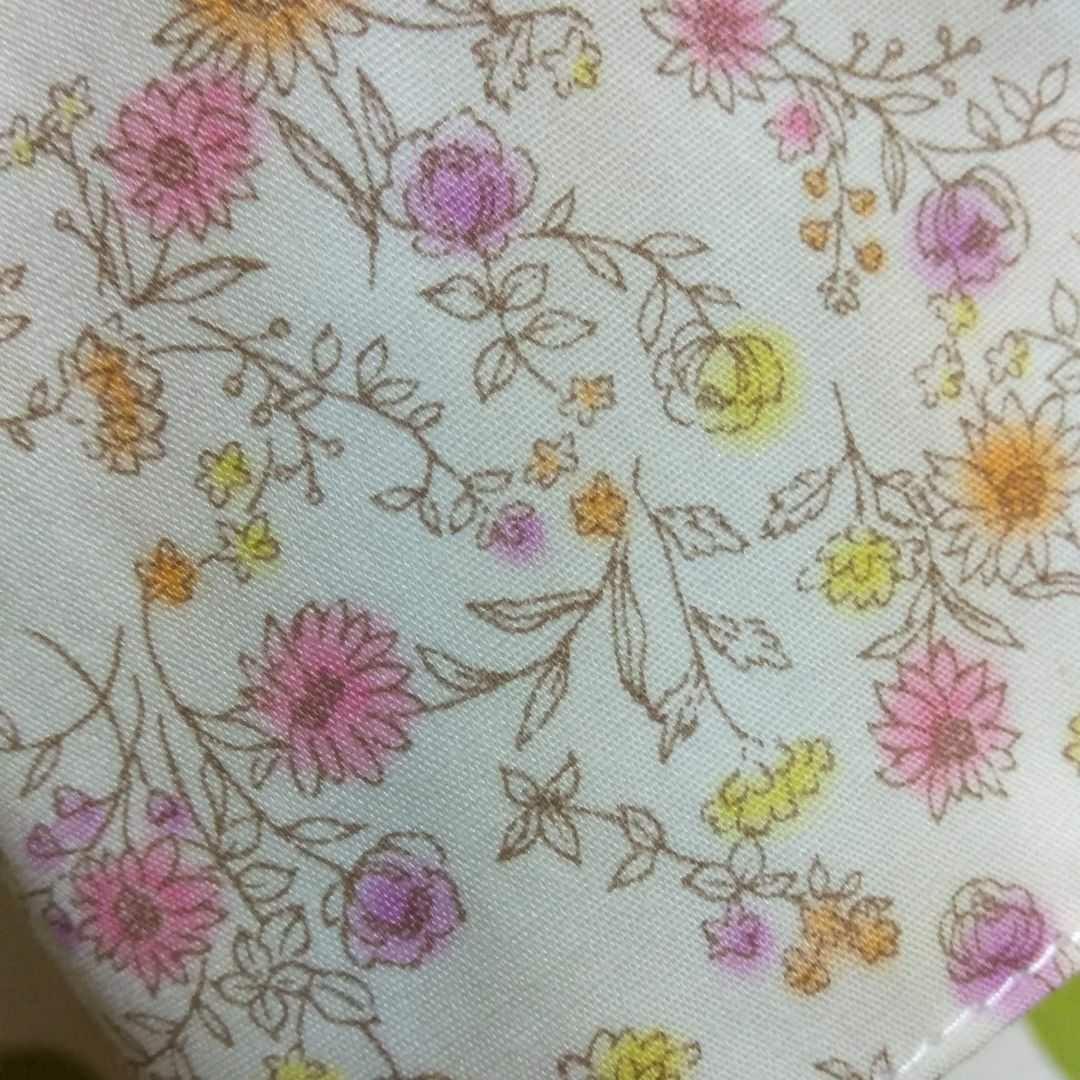 ハンドメイド インナーガーゼ インナーカバー 立体インナー フィルターポケット&マウスワイヤー入 ほんのりピンク小花柄