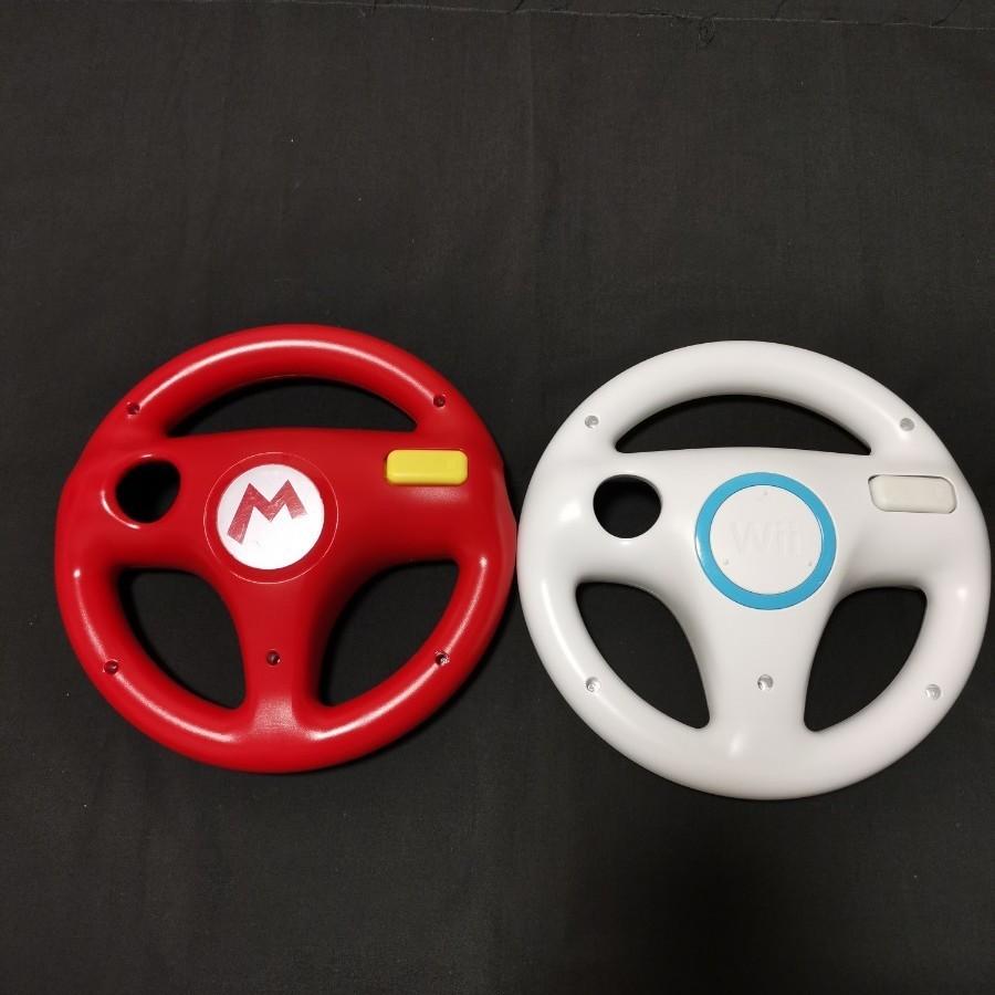 Wiiハンドル  マリオカート ハンドル マリカ wiiu マリオ 2個セット