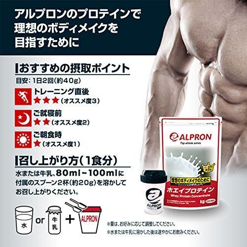 3kg アルプロン ホエイプロテイン100 3kg【約150食】ストロベリー風味(WPC ALPRON 国内生産)_画像8