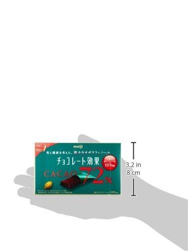 75g×5箱 明治 チョコレート効果カカオ72%BOX 75g×5箱_画像7