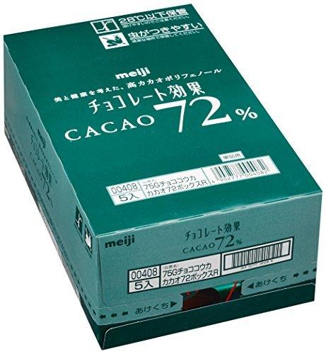 75g×5箱 明治 チョコレート効果カカオ72%BOX 75g×5箱_画像5