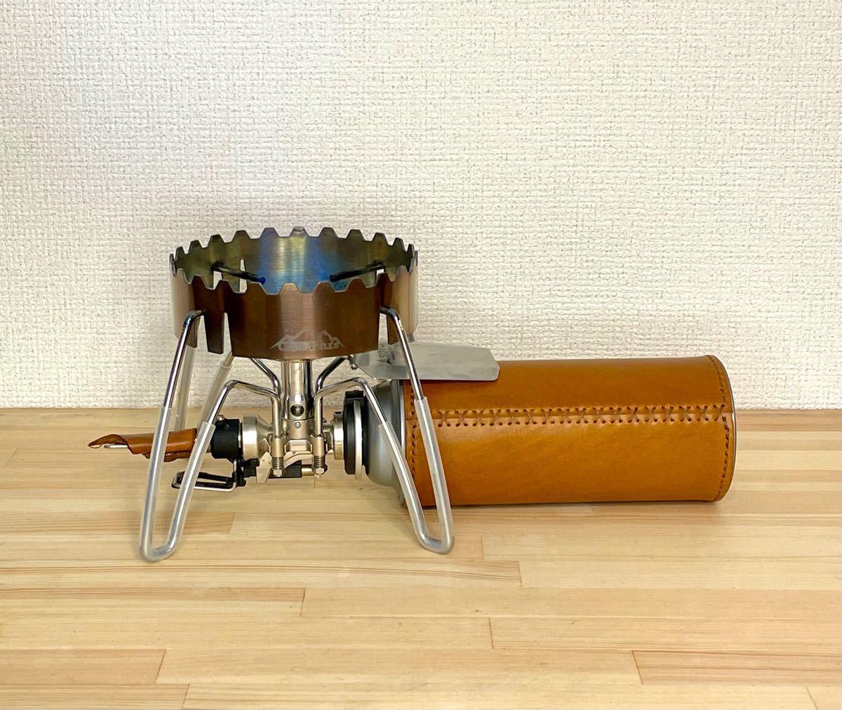 【ヌメ革】本革CB缶カバー SOTOバーナー ストーブ レザーカバー ランタンカバー