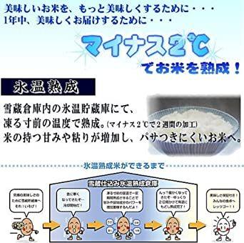 2kg 【精米】新潟県魚沼産 特別栽培米白米 雪蔵氷温熟成 こしひかり 2kg 令和元年産_画像4