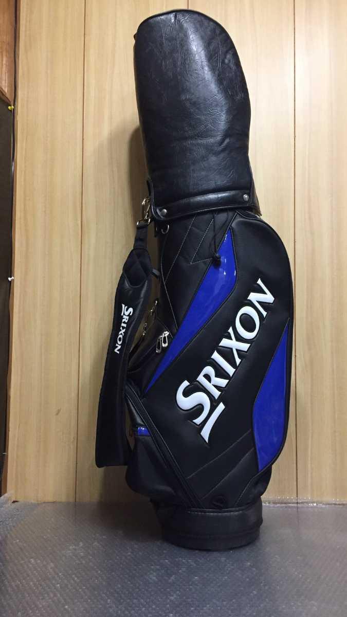 srixon ブラック×ブルー キャディバッグ ゴルフバック【sn-26】_画像3